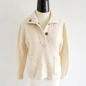 Jcrew Lambswool Popover Sweater